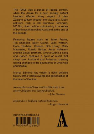 Back Cover Time to Make a Song and Dance by Murray Edmond
